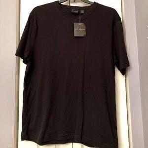 Men's Short Sleeved Black V-neck Shirt, NWT, L